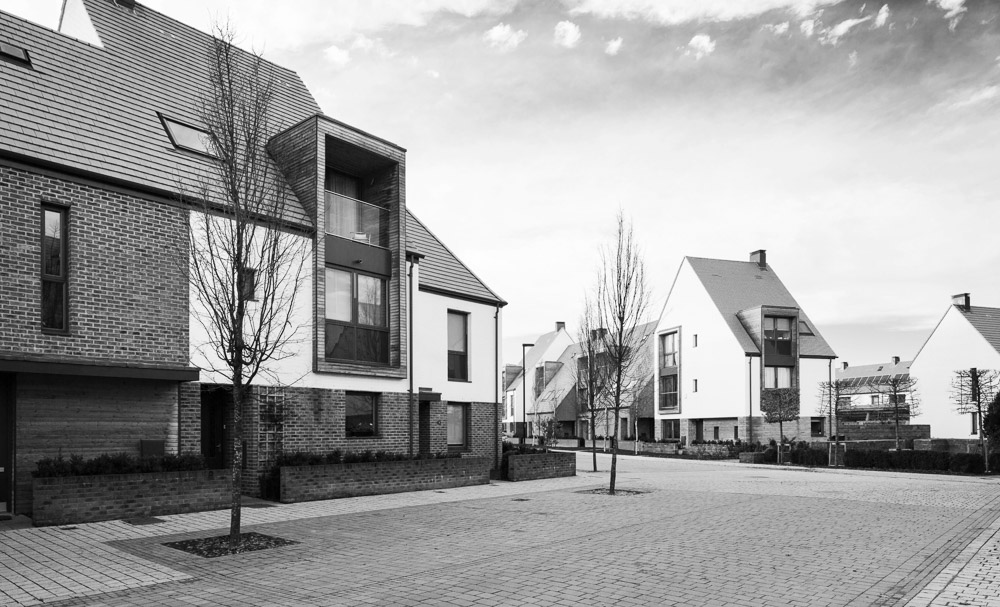 black and white, derwenthorpe housing development York