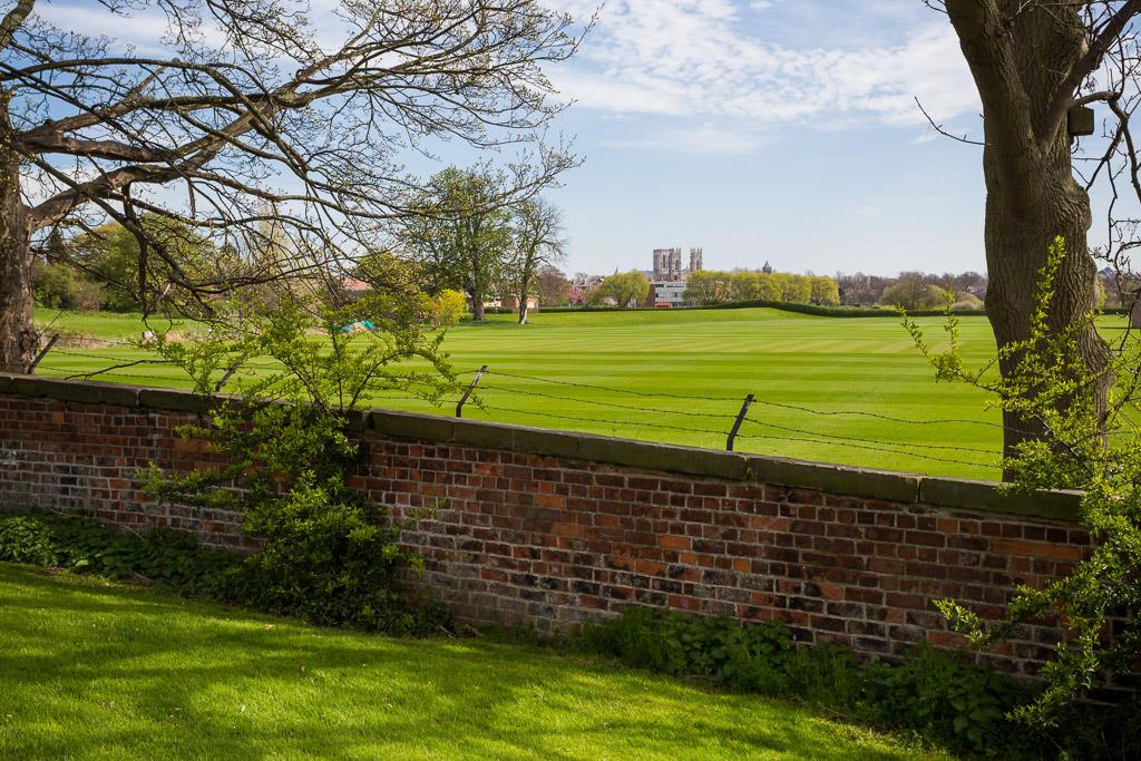 Landsacape View of York Minster looking accross fields