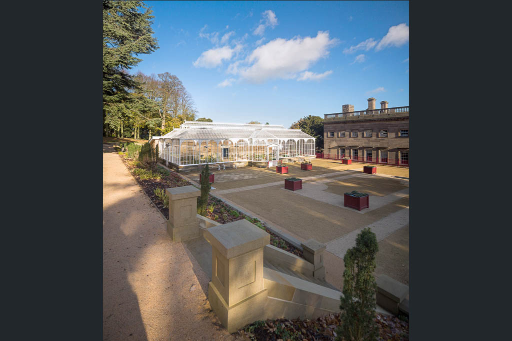 architectural photograph of renovated conservatory