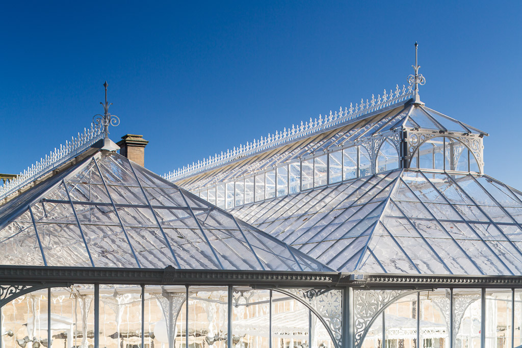 detail photograph of restored conservatory in West Yorkshire