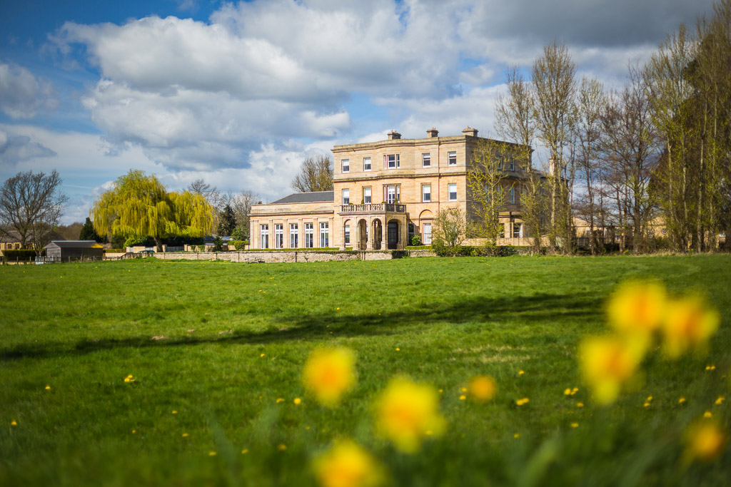 Spring photograph of Manor house in North Yorkshire