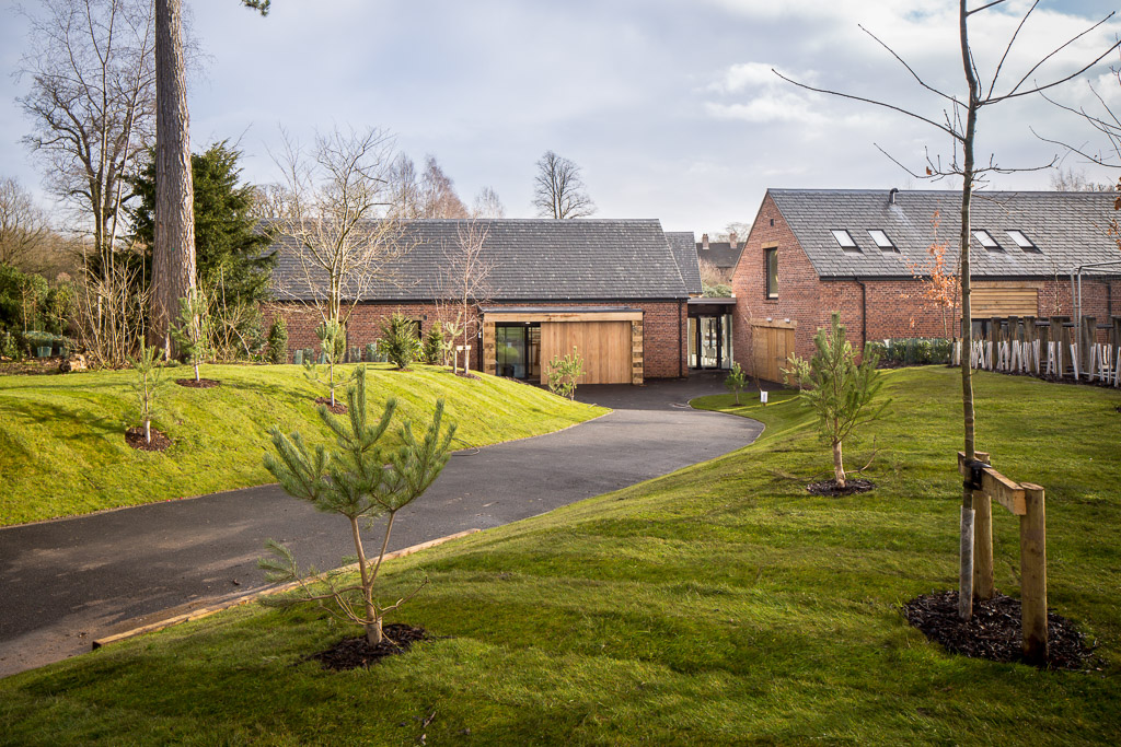 Outside photograph of New Build visitors centre in Cheshire