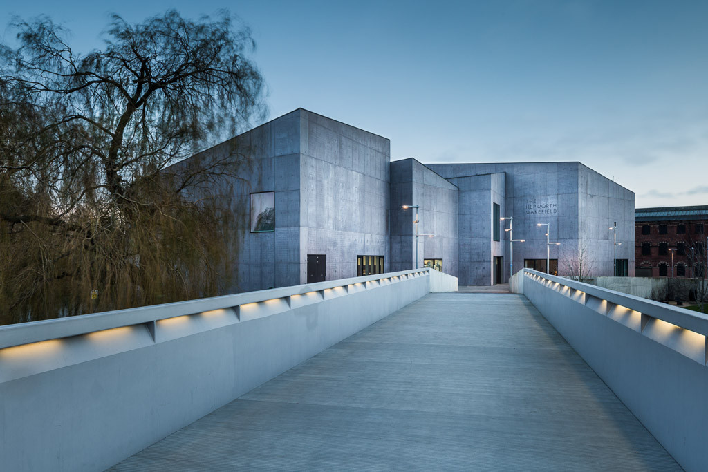 Hepworth Gallery architcure commercial photography Yorkshire