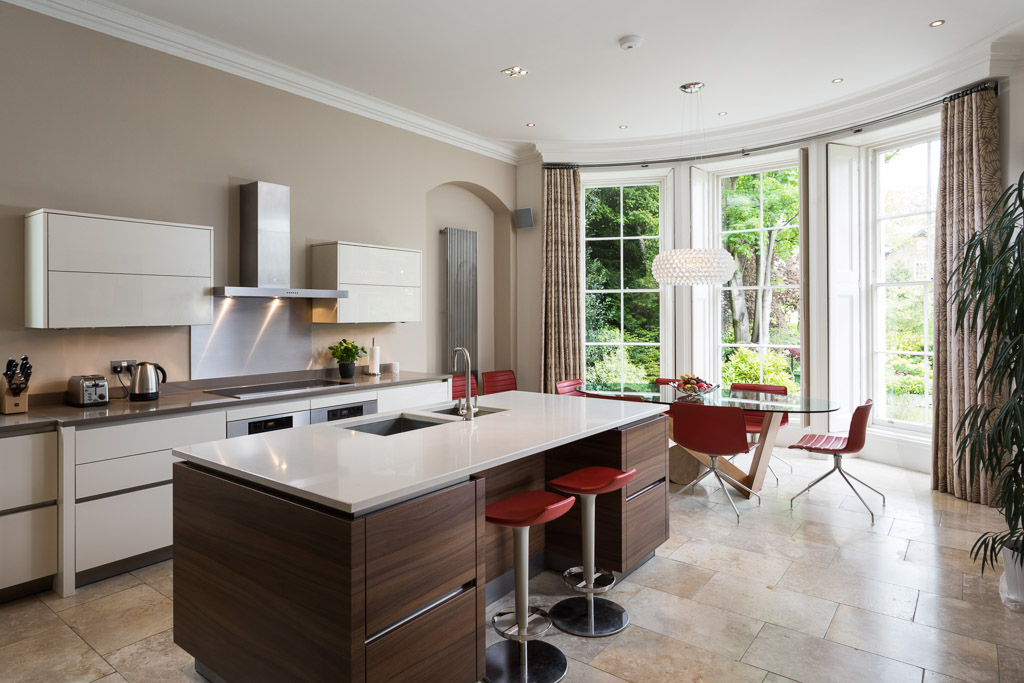 georgian room with contemporary kitchen photograph in york