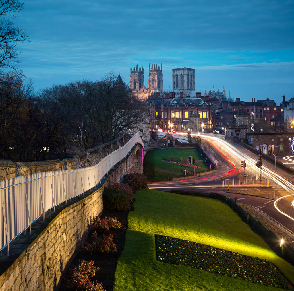 York Minster, walls and lendal bridge