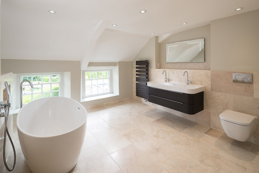 modern bathroom in yorkshire photography