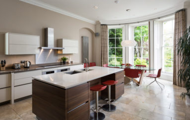 Contemporary Kitchen in Grand Room