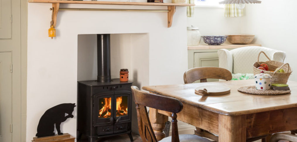 Dining room interior in cosy cottage