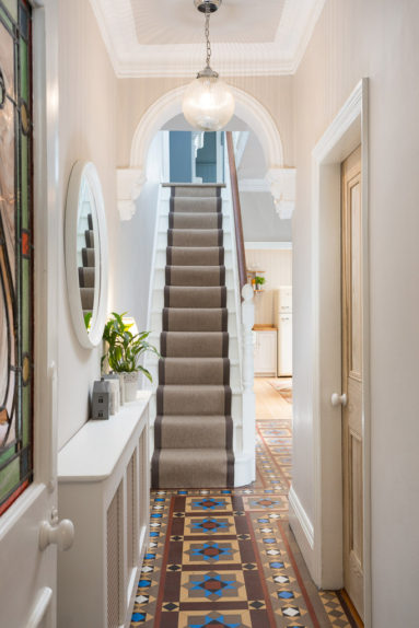 Edwardian Entrance Hallway and tiled floor