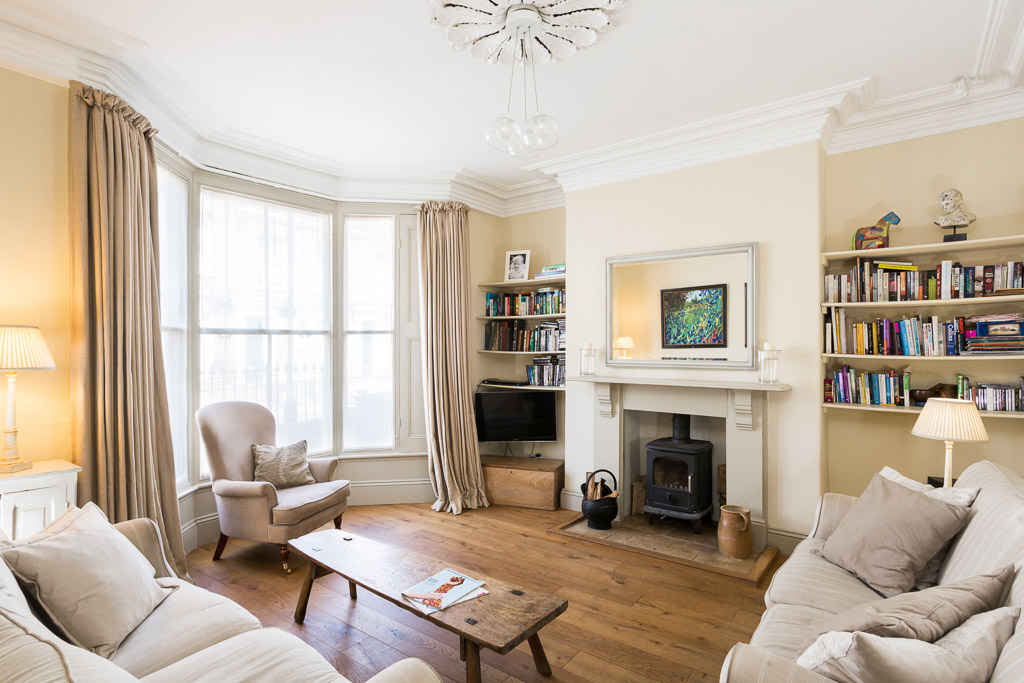 residential lounge photograph in victorian terraced house