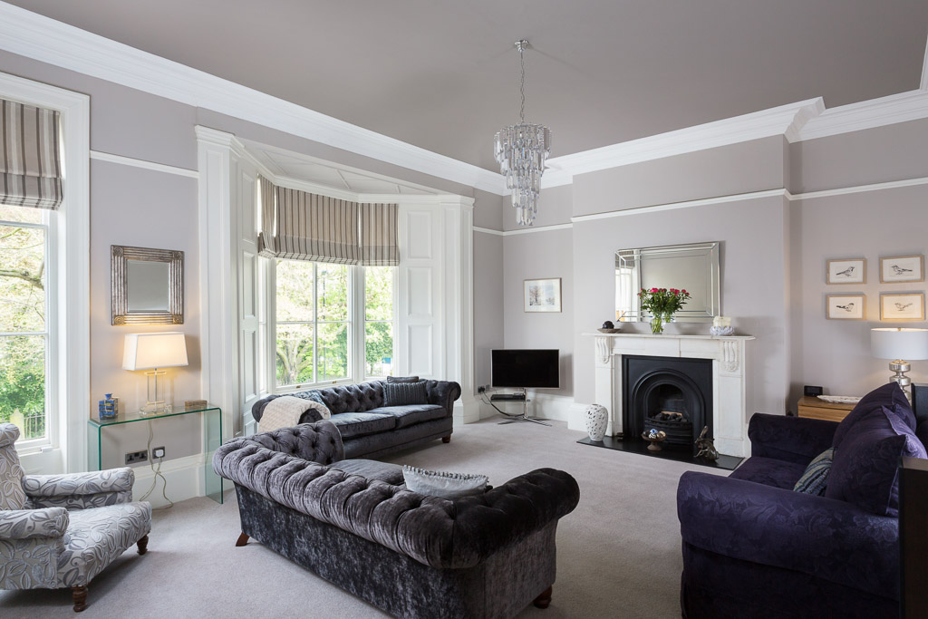 photograph of drawing room in Yorkshire residential house