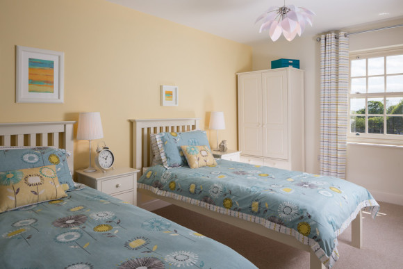twin bedroom photograph in Yorkshire show home