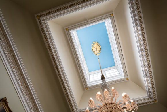 Ceiling light in Doncaster's Mansion House