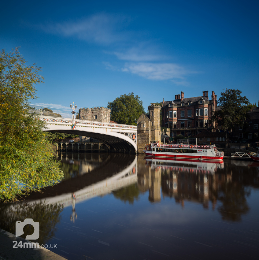 River Ouse, Lendal Bridge and tour boat, York