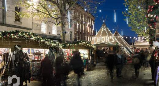 York Photographs of Thor's Tipi and York Christmas Market