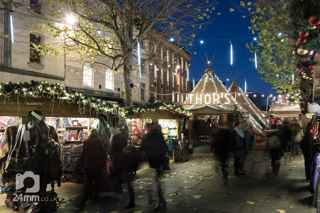 Photographs York of Thor's Tipi and York Christmas Market