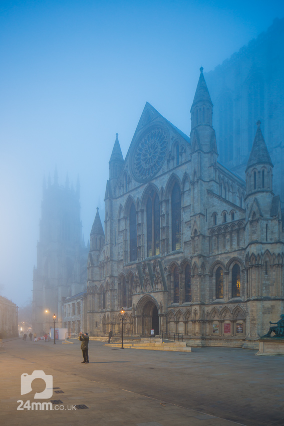 Mist decends on York misnter at Dusk