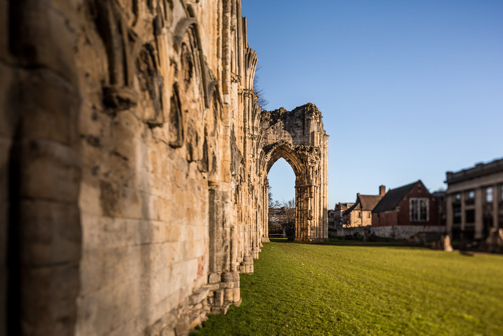 St marys abbey, york property photographer tilt lens